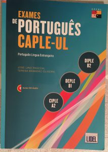 Book called Exames de Português - CAPLE-UL