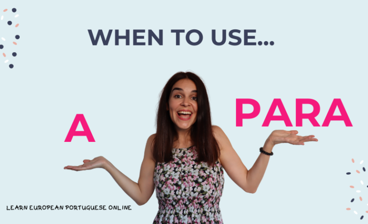 When to use a and para