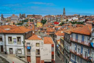 View over Porto with Torre dos Clérigos