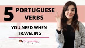 5 EUROPEAN PORTUGUESE TRAVEL VERBS THUMBNAIL BLOG POST